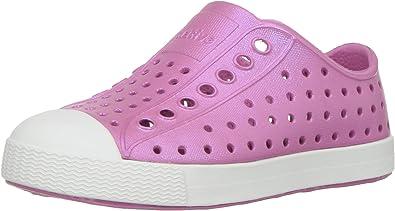 Native Kids Iridescent Jefferson Water Proof Shoes 2 Medium US Little Kid Malibu Pink//Shell White//Galaxy Iridescent