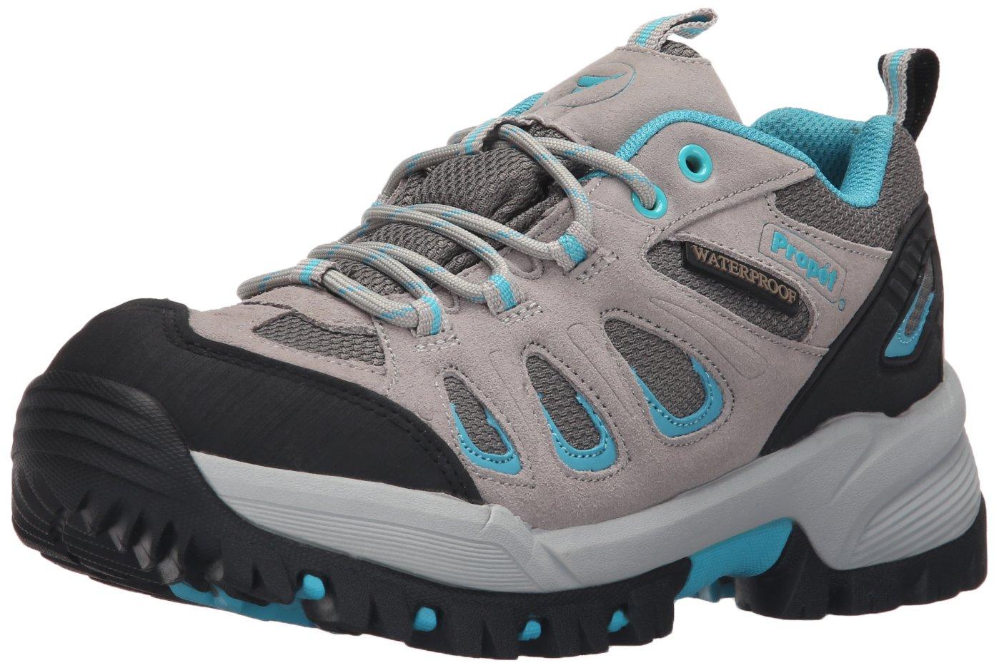 Propet Women's Ridgewalker Low Boot B01AYQ6P9Y 8.5 2E US|Light Grey/Turquoise
