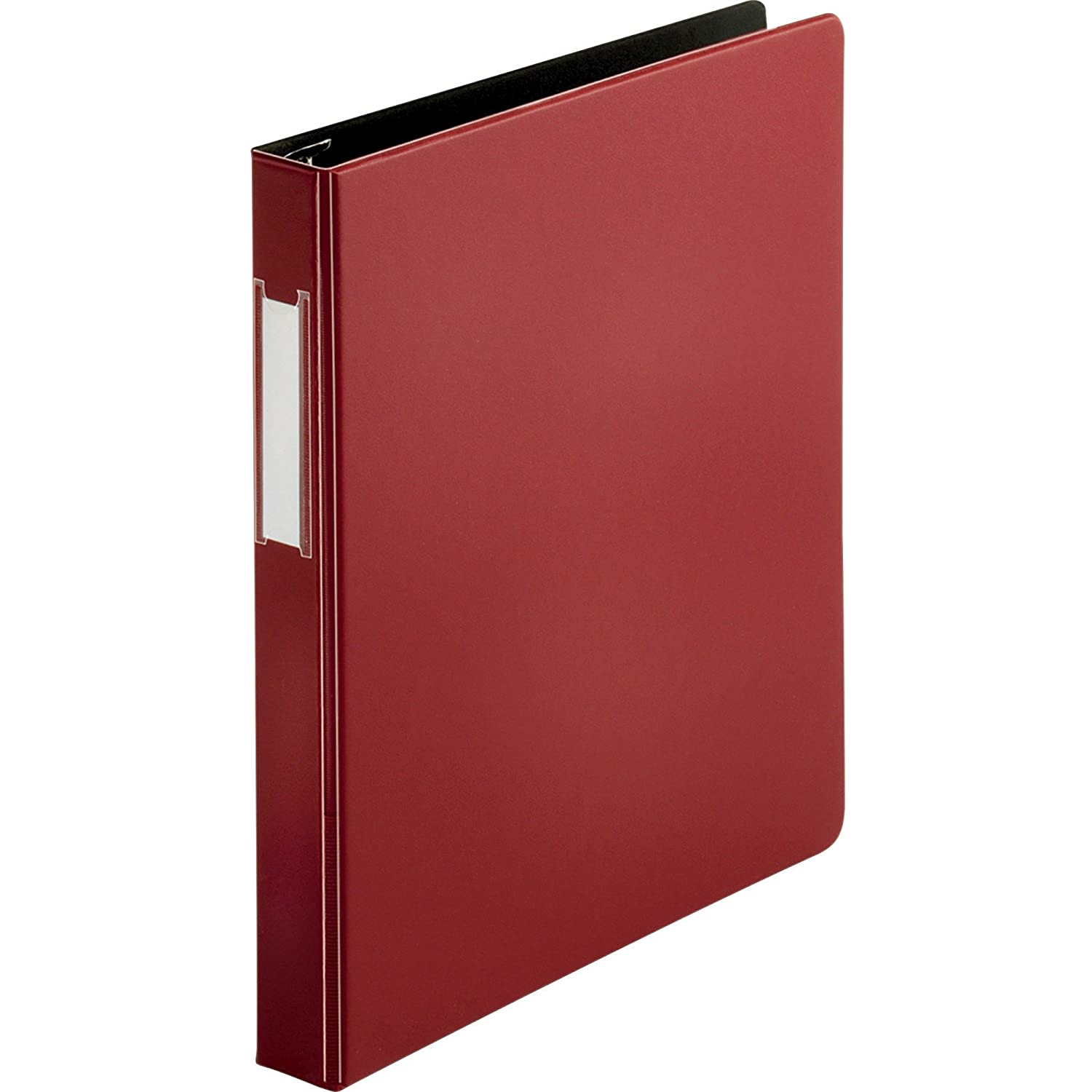 Business Source Slanted D-Ring Binder, Color: Burgundy, Size: 1 Size: 1