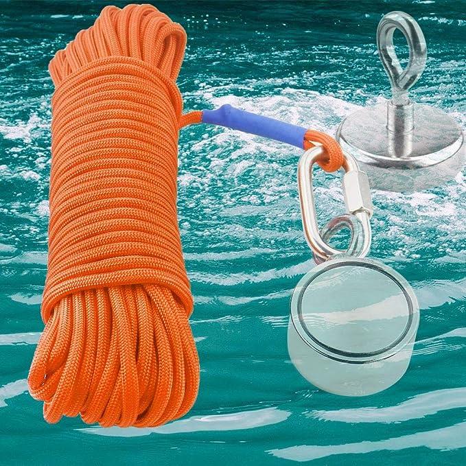 Fischen Magnet Seil 20 Meter, Schweres Seil mit Sicherem Verschluss, Dur H5Y8 2X