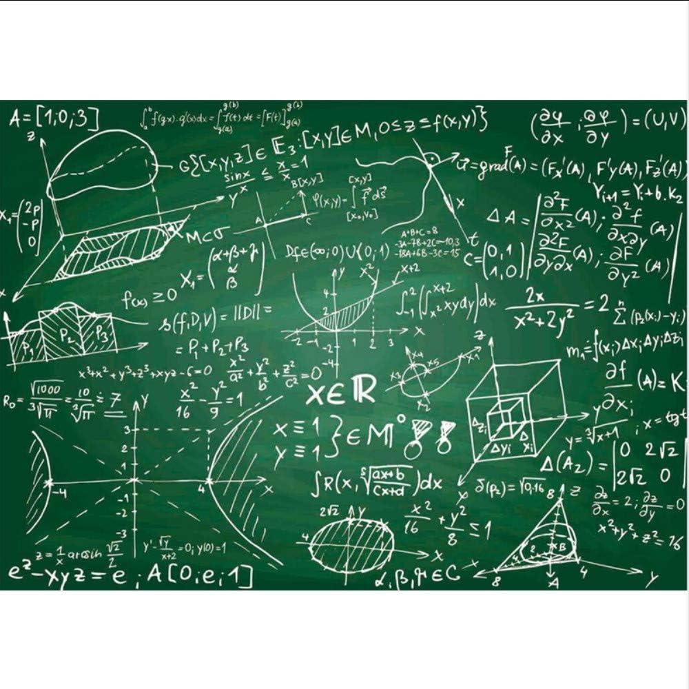 Amazon Xbwy カスタム3d壁紙リビングルーム 黒板チョーク数学の壁紙