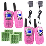 Amazon Price History for:Swiftion Rechargeable Kids Walkie Talkies 22 Channel 0.5W FRS/GMRS 2 Way Radios with Charger and Rechargeable Batteries (Pink, Pack of 4)