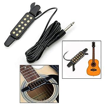 OFKPO Pastilla de Guitarra 12 Orificios para Guitarra Acústica: Amazon.es: Electrónica