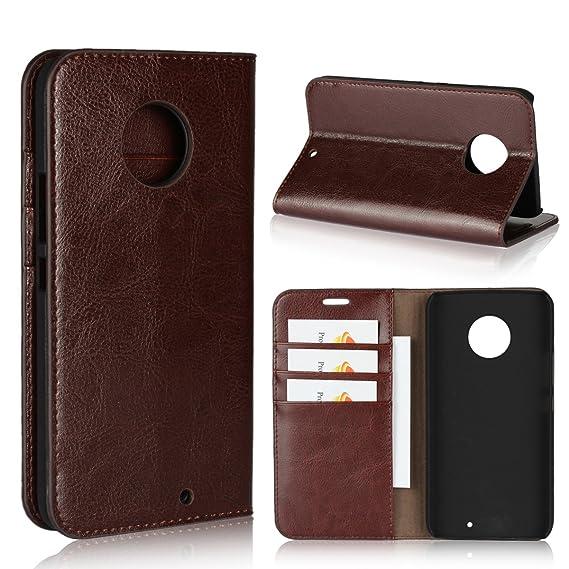 3ede2fe860fc Motorola Moto X4 Case,iCoverCase Genuine Leather Wallet Case  Slim Fit   Folio Book