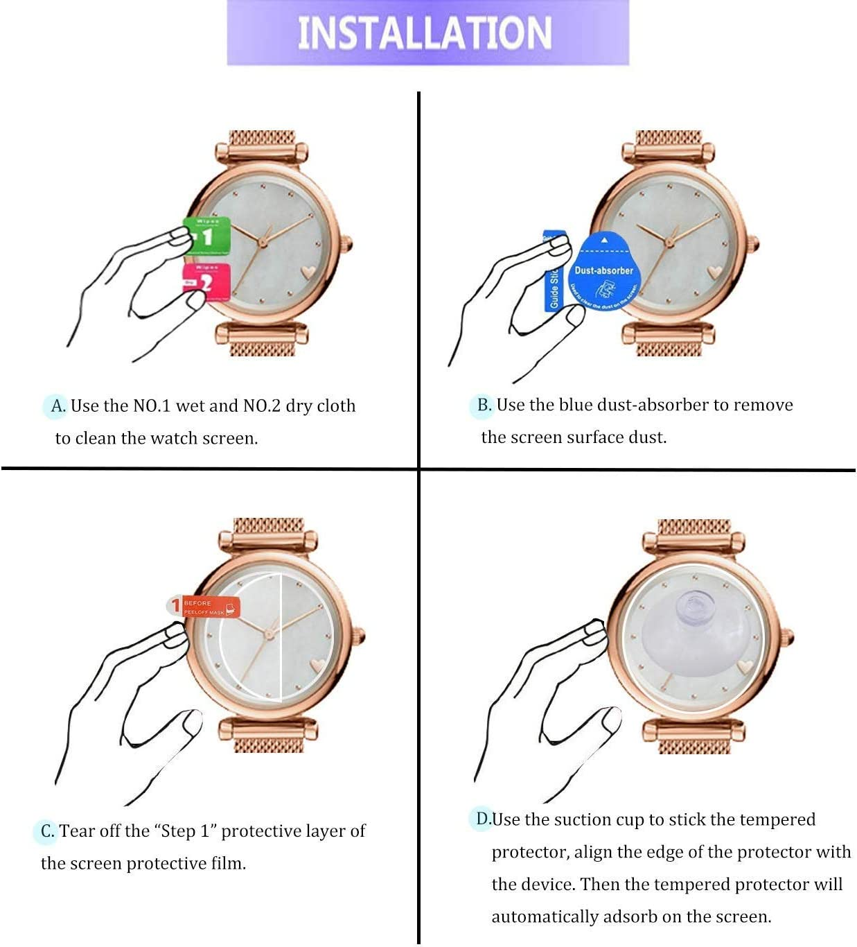 2.5D 9H Hardness Anti-Scratch Lonlonking 3-Pack for Garmin Approach S62 SMARTWATCH Screen Protector Tempered Glass for Garmin Approach S62 Smartwatch