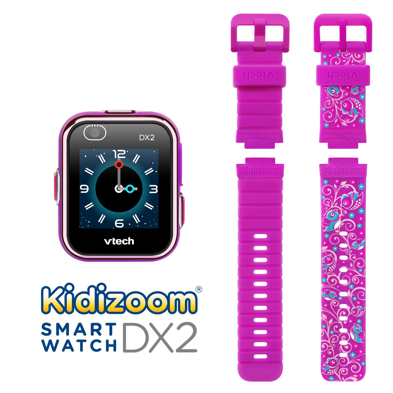 VTech Kidizoom Smartwatch DX2 Special Edition Floral Birds with Bonus Vivid Violet Wristband by VTech (Image #2)
