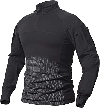 ReFire Gear Camisa táctica Militar de algodón para Hombre, Camuflaje de Asalto