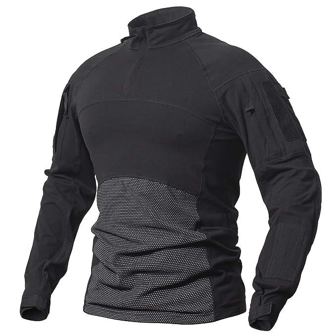 Amazon.com: ReFire Gear Camisa de combate militar táctica ...