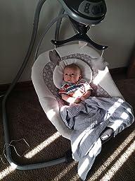 Amazon.com : Graco Simple Sway Baby Swing, Stratus : Baby