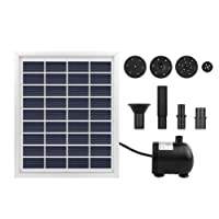 Solar Fountain Solar Power Water Pump Solar Panel Power Submersible Fountain Pond Water Pump Kit 55cm Height for Garden Plants Pool Pond 2W