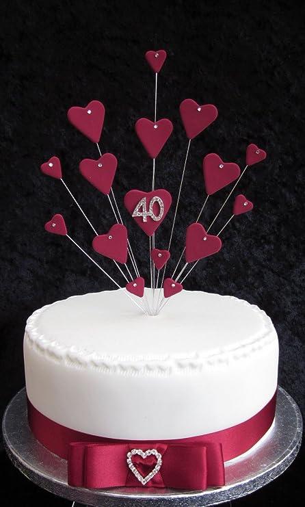 Decoración para tarta de 40 cumpleaños, ideal para tarta de ...