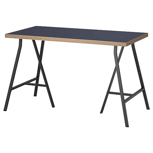 IKEA linnmon/lerberg Mesa Escritorio, Azul, Gris 120 x 60 cm ...