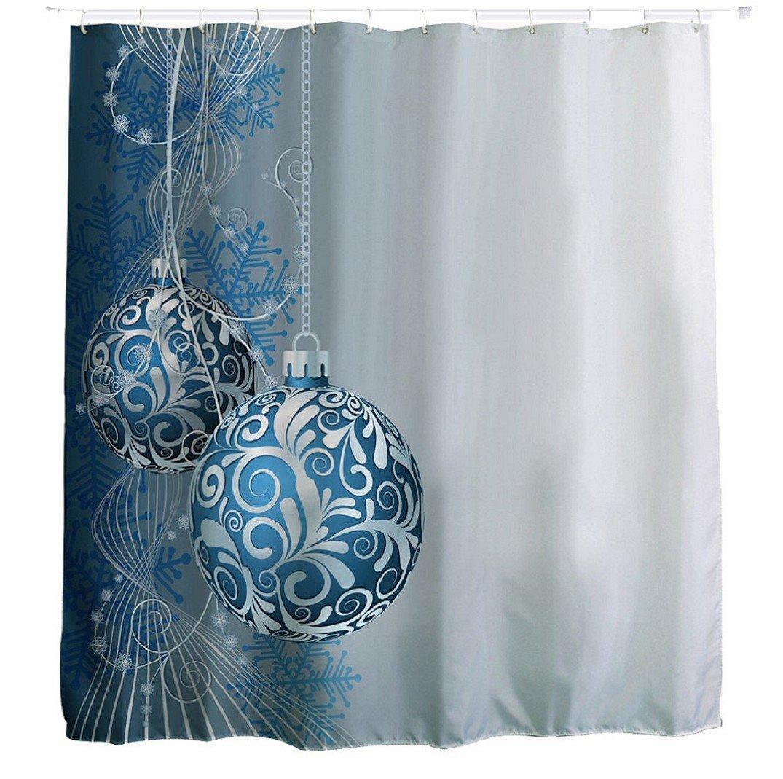 Duschvorhänge,Amcool Glücklich Weihnachten Bunt Wasserdicht ...