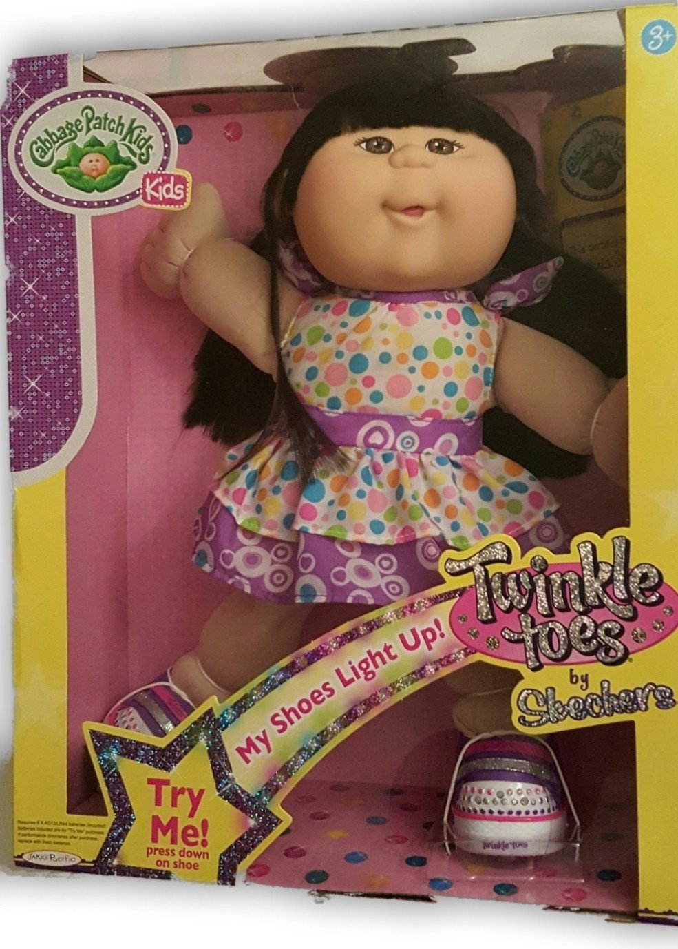 Cabbage Patch Kids Twinkle Toes: Asian Girl Doll, Black Hair, Brown Eyes,  Dolls - Amazon Canada