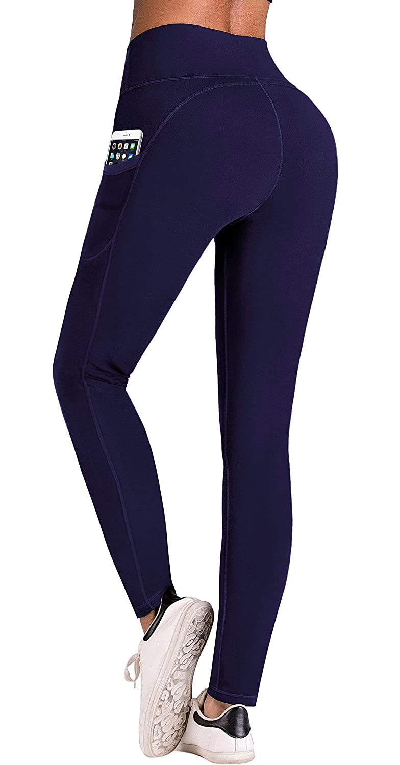 32140c7fe0fe7 Amazon.com: IUGA High Waist Yoga Pants with Pockets, Tummy Control, Workout  Pants for Women 4 Way Stretch Yoga Leggings with Pockets: Clothing