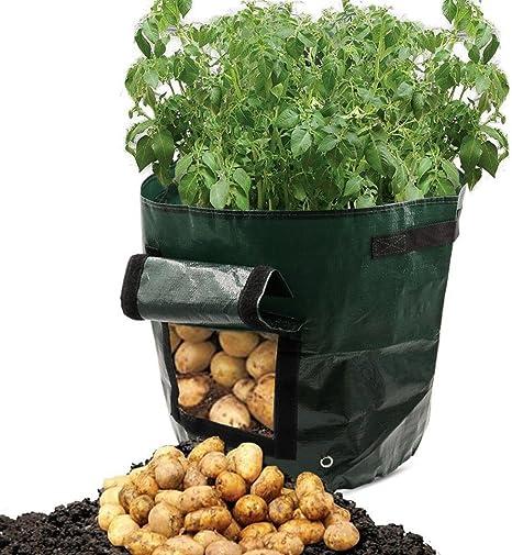 Maceta de polietileno con patatas para puertas, tomates, jardinería, macetas de jardín, mamum, bricolaje, maceta de cultivo de patata, polietileno, bolsa de maceta de jardín gruesa: Amazon.es: Grandes electrodomésticos