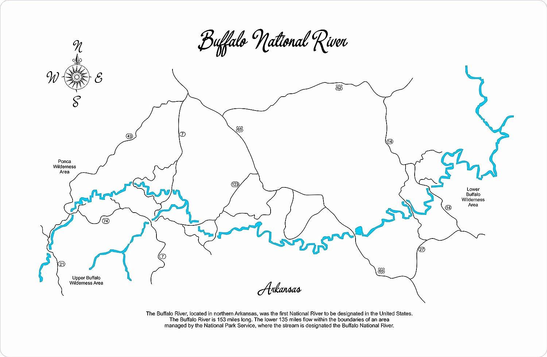 Amazon Com Buffalo National River Arkansas Framed Wood Map Wall