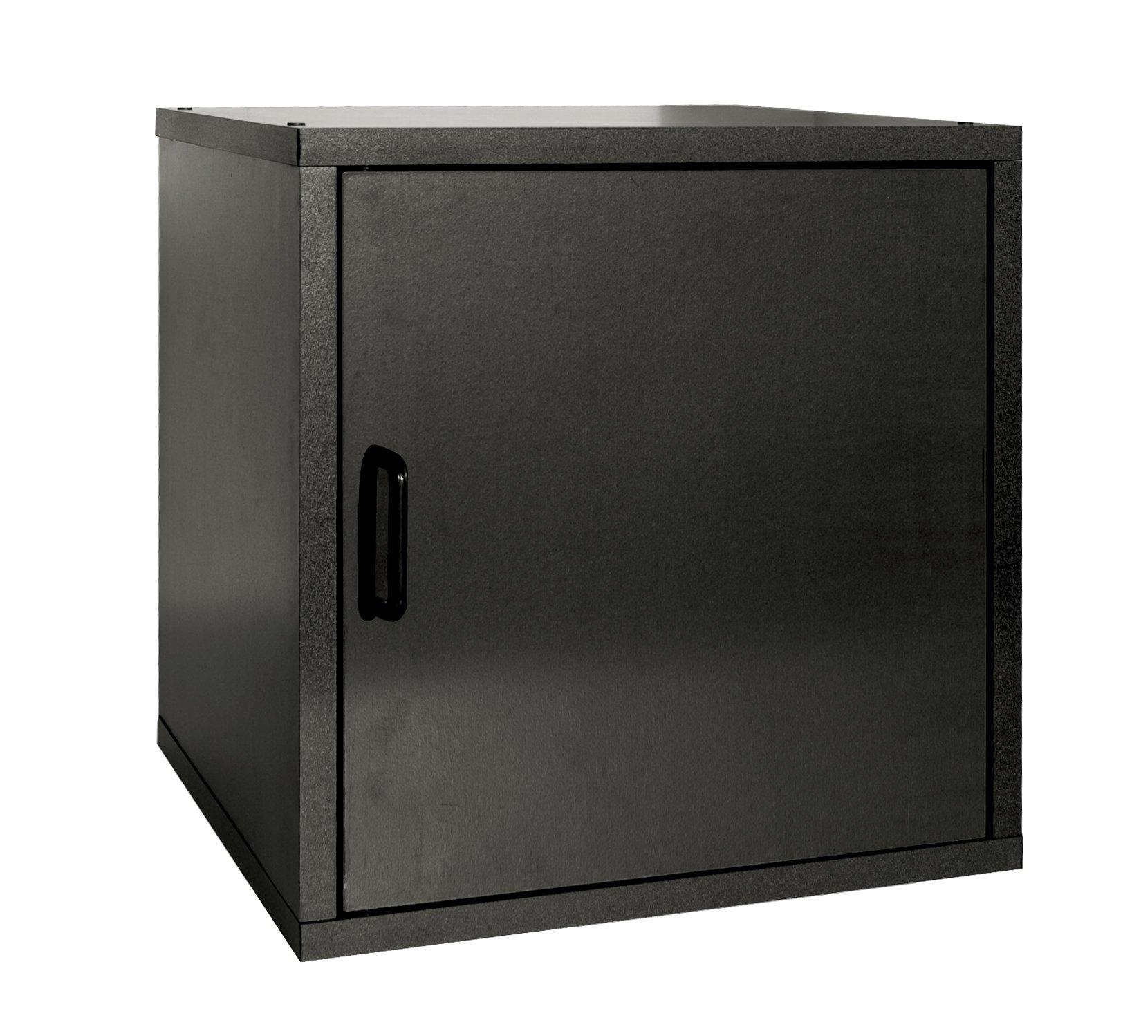 Organize It All Single Door Cube, Black