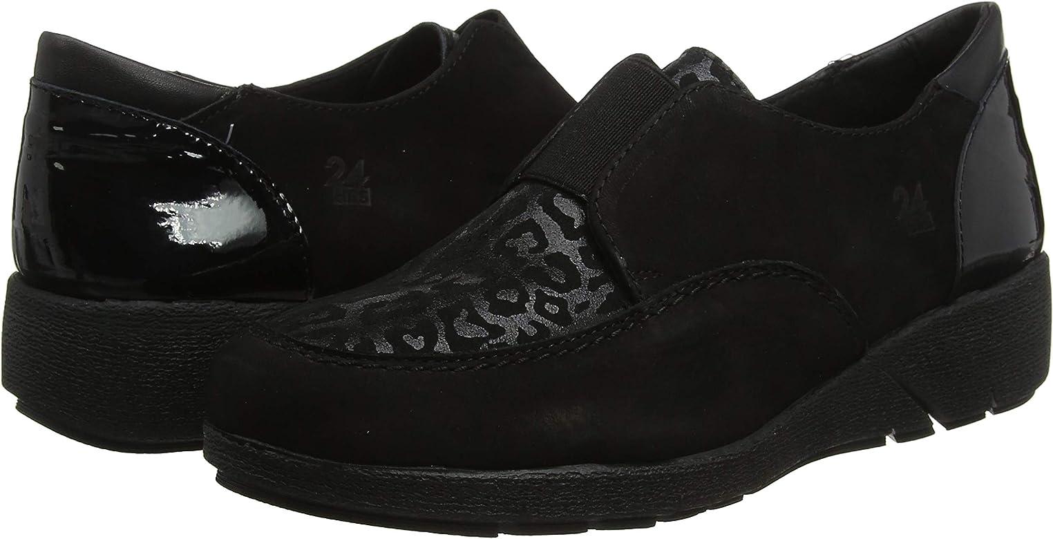 24 HORAS 24243, Mocasines para Mujer, Negro (Negro 7), 38 EU: Amazon.es: Zapatos y complementos
