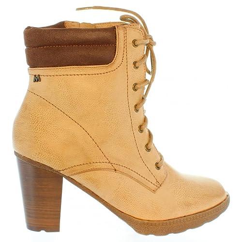 Botines de Mujer MARIA MARE 68666 BOMBIN TAUPE Talla 41: Amazon.es: Zapatos y complementos