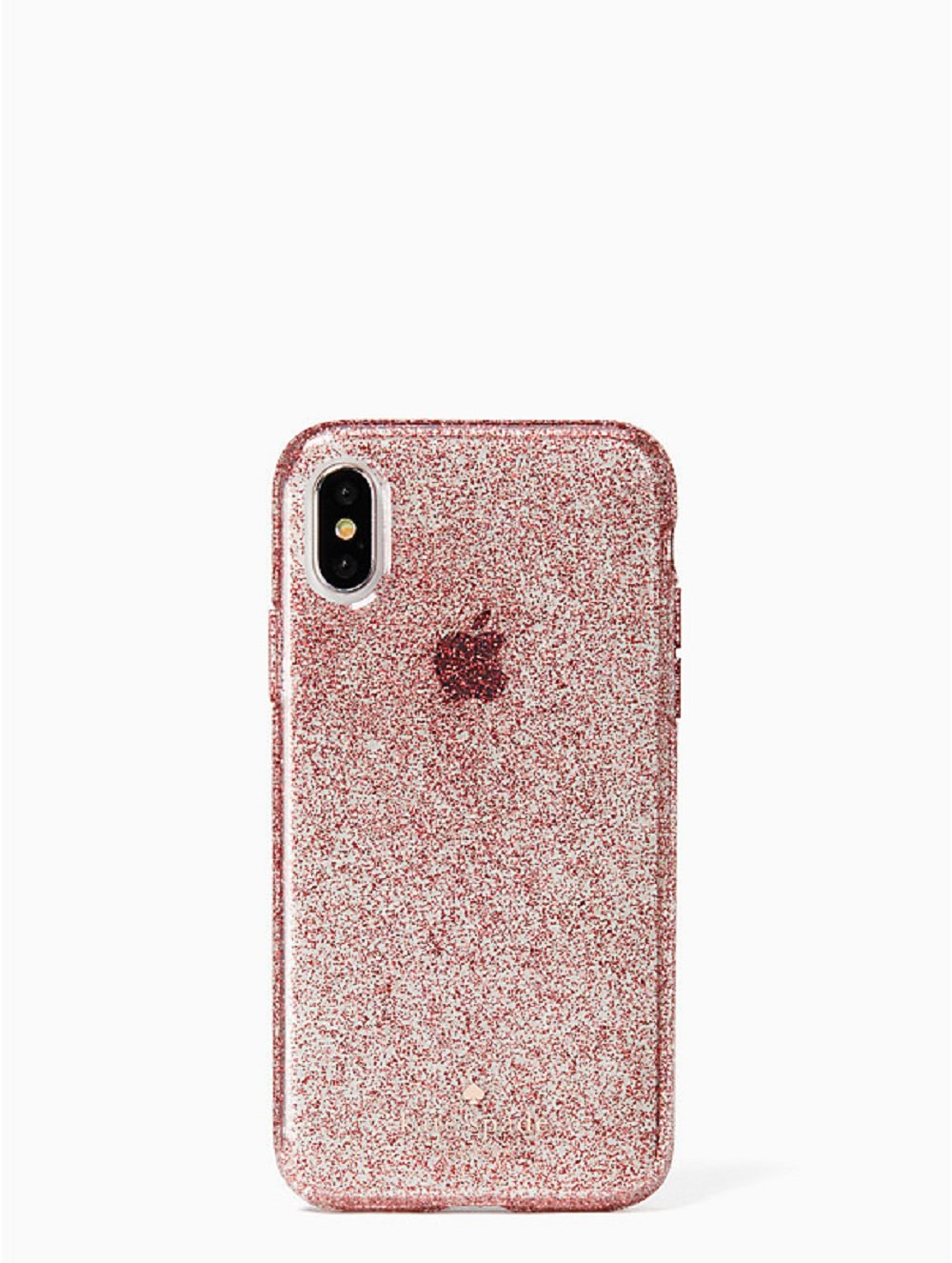 Kate Spade New York Flexible Tinted Glitter Case for iPhone X, Rose Gold