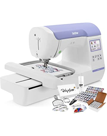 380fab27ef860 Brother PE800 Embroidery Machine + Grand Slam Package Includes 64 Embroidery  Threads + Prewound Bobbins +
