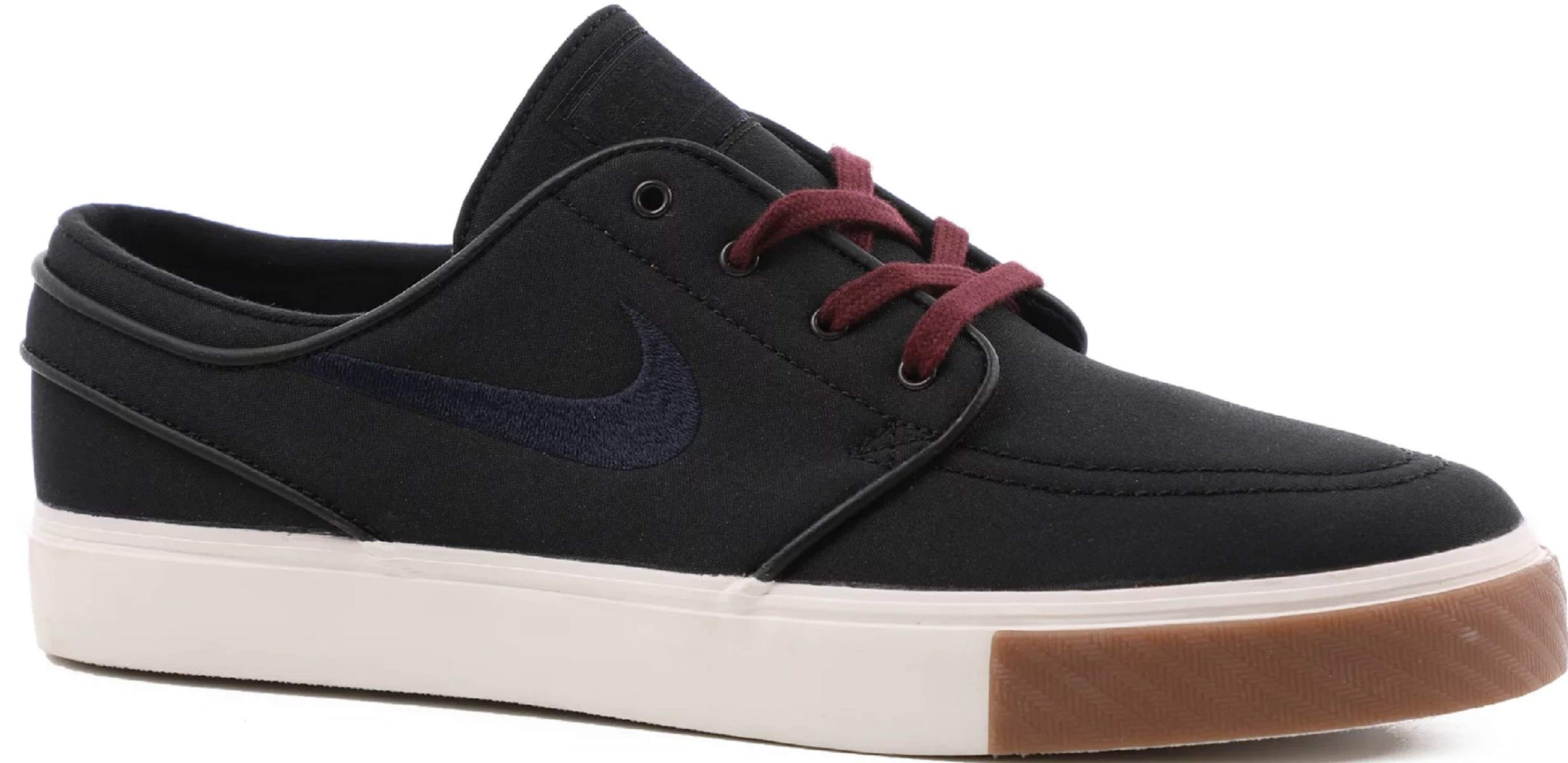 new styles 90c87 9a486 Nike Zoom Stefan Janoski CNVS Mens Fashion-Sneakers 615957-024 7.5 - Black Obsidian-Burgundy  Crush