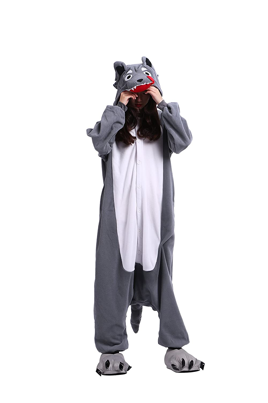 YUWELL Pigiama Animale Halloween Cosplay Kigurumi Sleepwear Costume Attrezzatura