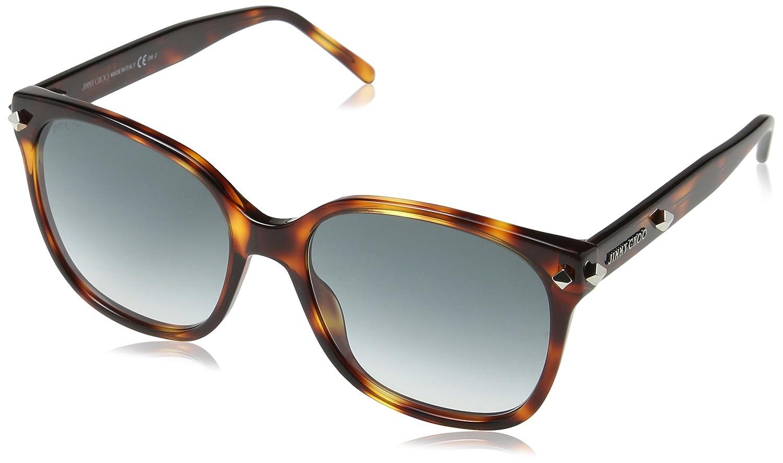 ce561f5e0b Amazon.com  Jimmy Choo Plastic Rectangular Sunglasses 56 005D Havana BB  gray gradient lens  Clothing