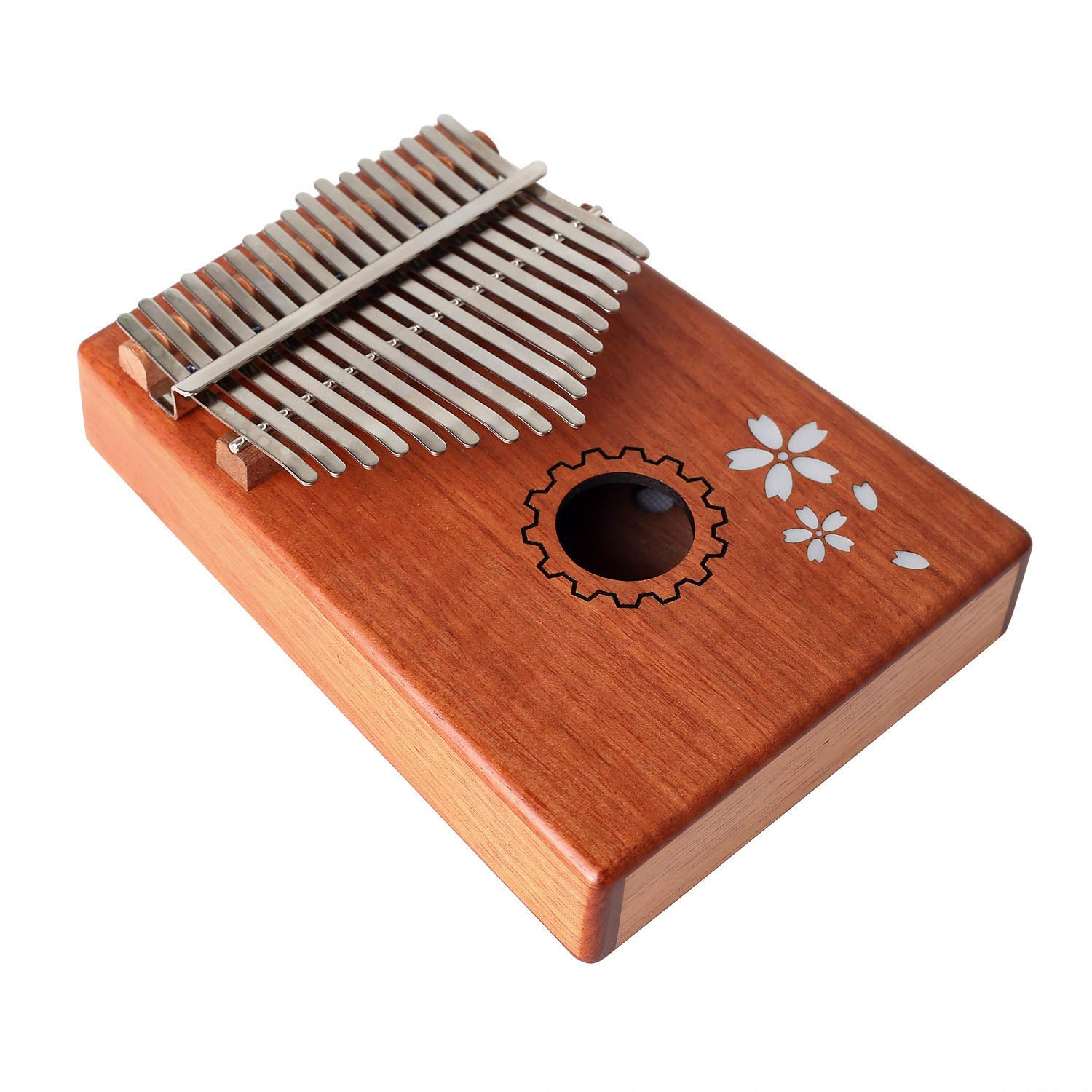 Kalimba Thumb Piano Finger Paino 17 Keys Instrument with Key Locking System, Mahogany Body Portable Instrument with Tuning Hammer Music Book and Carry Bag VTOP Online Shop CA1810-25
