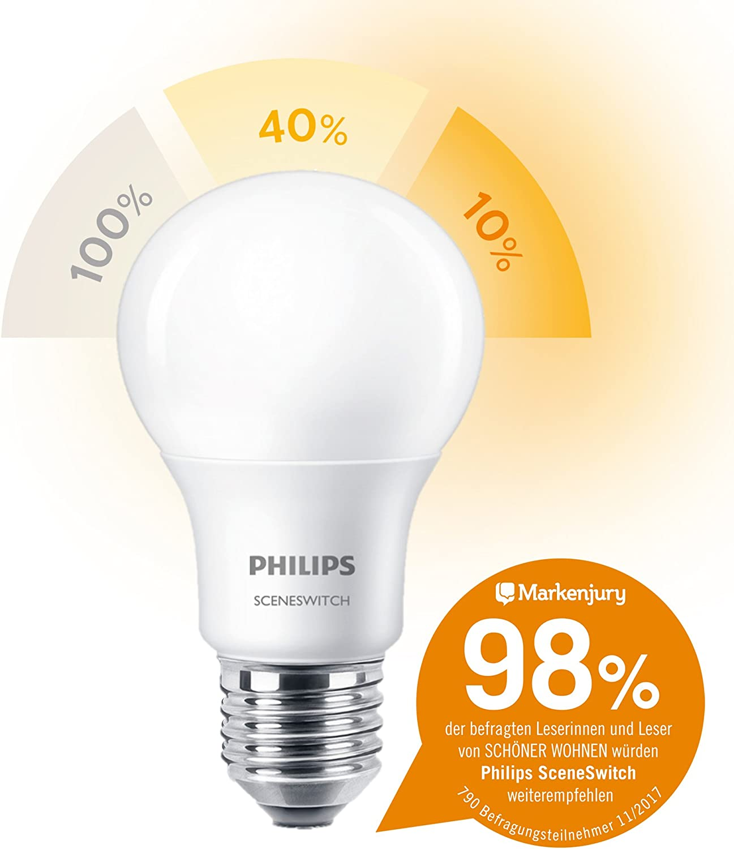 EEK A+ Philips 3-in-1 LED Lampe SceneSwitch ersetzt 100W E27