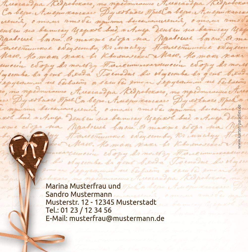 Hochzeit Einladung 2 Herzensgedicht, Herzensgedicht, Herzensgedicht, 10 Karten, TürkisGrauMatt B07HMTPR5S | Luxus  | Ausgezeichnetes Handwerk  | Zu verkaufen  c5dafb