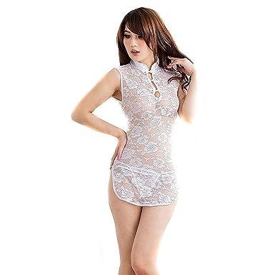 20556124db4c3 Amazon.com  LoveSex Set Uniform Temptation Sexy Lingerie Cheongsam ...