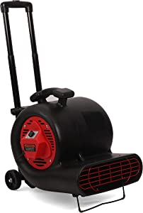 MOUNTO 3-Speed 3/4HP 3000CFM Air Mover Floor Carpet Dryers with Wheel Kit