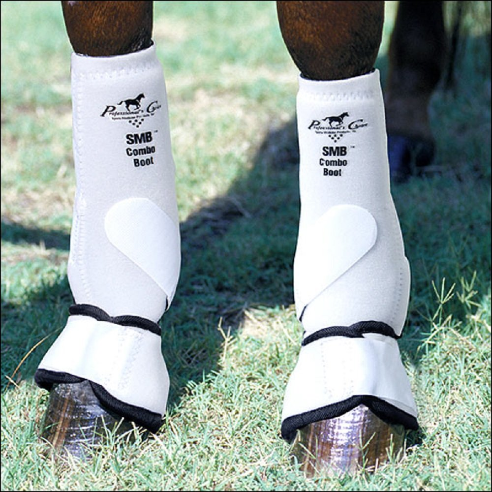 Professionals Choice Equine Smb Combo Front Boot, Pair (Medium, White)