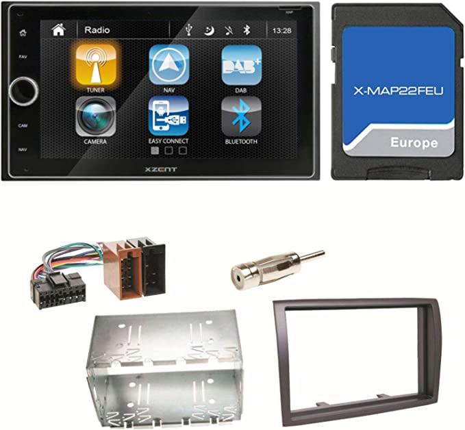 Xzent X 422 Naviceiver Navigation Bluetooth 2 Din Usb Elektronik