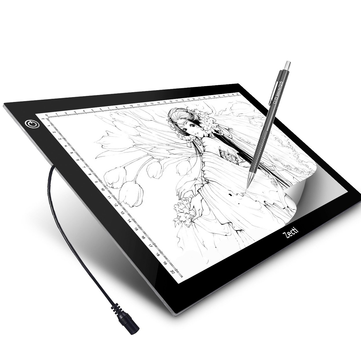 A4 LED Light Box Zecti A4 6-Level Brightness Tracing Light Pad for Artists Drawing Sketching Animation Stencil Tattoo 13.7x10.2 Inch (13.7x10.2x0.19inch)