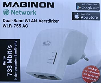 Maginon wlr-4001 755ac Amplificador de Banda Dual WiFi