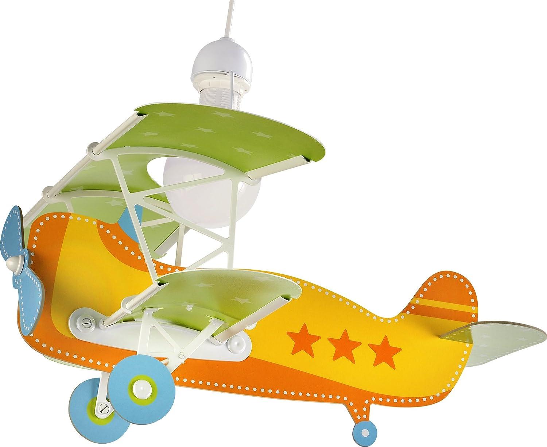 Dalber Baby Plane - Lámpara colgante Avión, color naranja ...