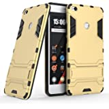 Taslar Dual Layer Hybrid Armor Stand Cover Case Protector Back Cover Kickstand for Xiaomi Mi Max 2 - Gold