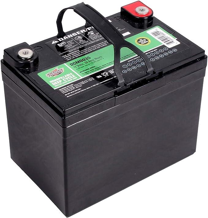 Interstate Batteries 12V 35AH Sealed Lead Acid (SLA) AGM Deep Cycle Battery (DCM0035) Insert Terminals