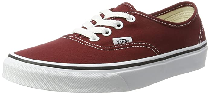 Vans Authentic Sneaker Erwachsene Unisex Rot Madder Brown