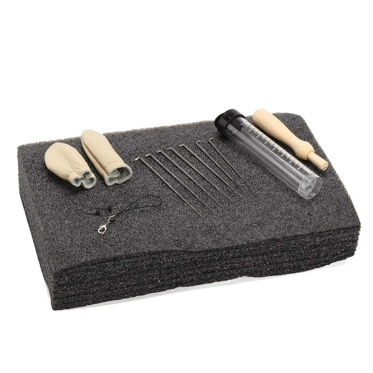 Needles Craft Accessories Set GIlH Needle Felting Foam Starter Kit Wool Felt Tools Mat