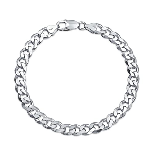 fd46ff682 200 Gauge Solid Heavy Miami Cuban Curb Link Bracelet For Men For Teen 925  Sterling Silver Made In Italy: Amazon.ca: Jewelry