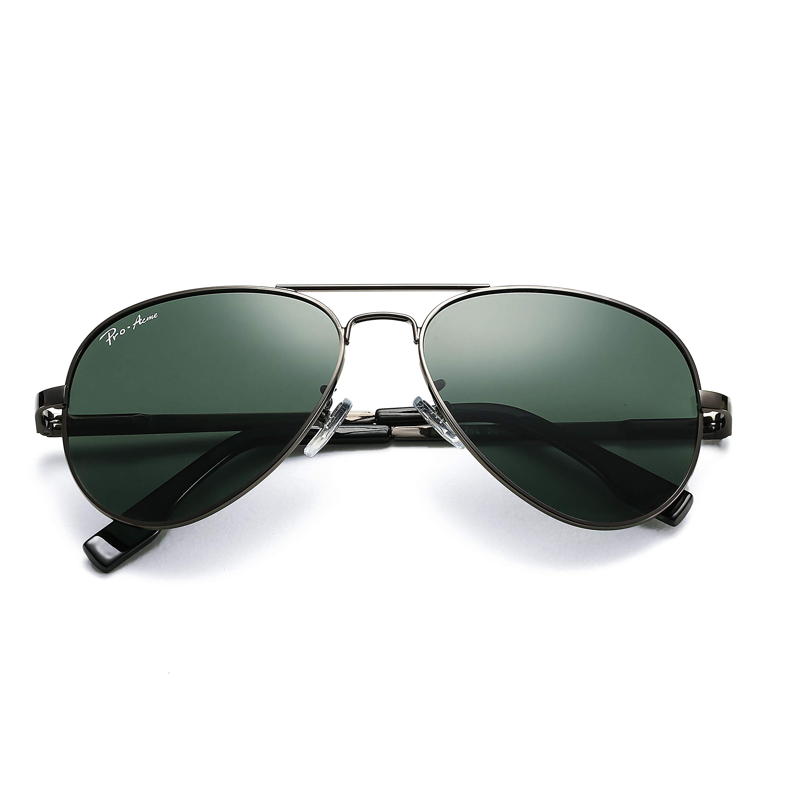 Pro Acme Polarized Aviator Sunglasses for Men and Women 100% UV Protection, 58mm (Gunmetal Frame/G15 Lens) by Pro Acme