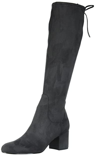 Delman Thus Black Suede Leather Knee High boots 10