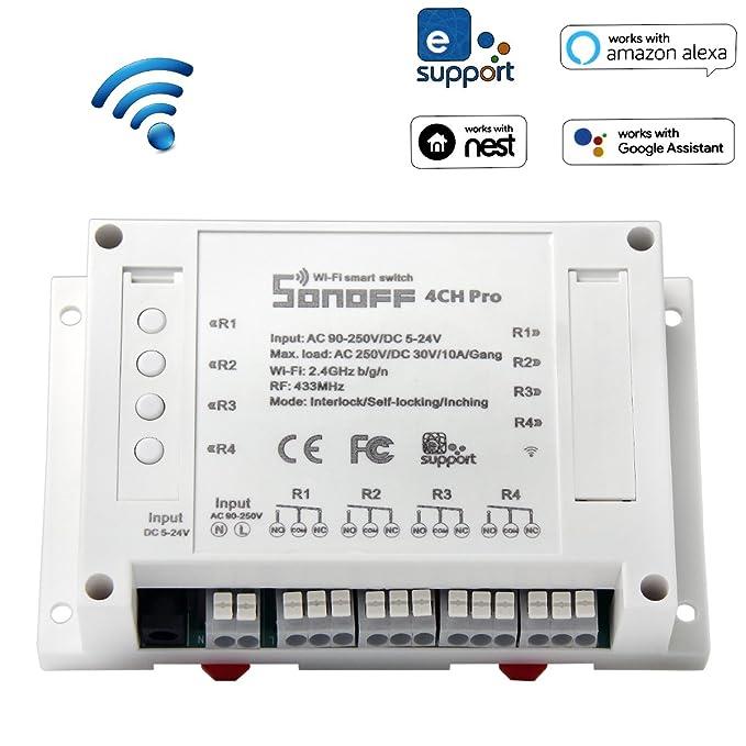 21 opinioni per ANRIS Sonoff 4CH Pro Smart Switch senza fili WiFi Per Smart home, 4 uscite con