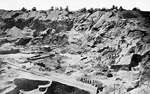 Amazon|ダイヤモンド鉱山1882年 デビアーズ鉱山地方風景 南アフリカ ...
