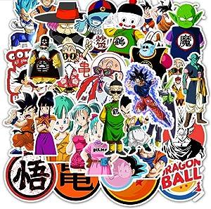 50Pcs Dragon Ball Z Laptop Stickers Anime Waterproof Stickers for Skateboard Luggage Helmet Guitar Super Z Dragon Ball Sticker Pack