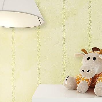 Kindertapete Natur Grün Blätter In Streifenform , Süße Tapete Für Babyzimmer  Oder Kinderzimmer , Inklusive Newroom